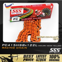 SSS RACING CHAIN PC415HSB X 122L ORANGE PLATED (OUTER LAYERS ONLY)