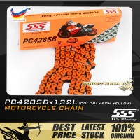 SSS CHAIN PC428SB X 132L ORANGE PLATED (OUTER LAYERS ONLY)