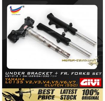KYB KAYABA UNDER BRACKET & FRONT FORKS SET FOR YAMAHA LC135 V2,V3,V4,V5,V6,V7 CLUTCH (55C)