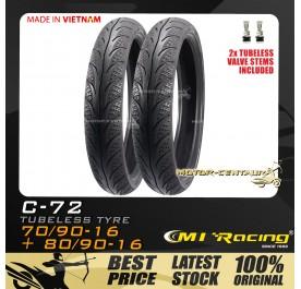 CMI RACING TUBELESS TYRE C72 70/90-16 + 80/90-16
