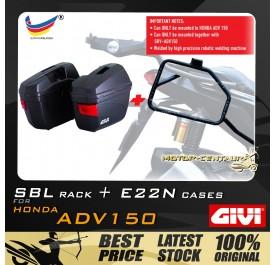 GIVI E22N SIDE CASES + GIVI HONDA ADV 150 SIDEBAG HOLDER