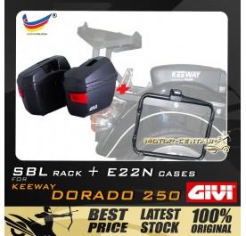 GIVI E22N SIDE CASES + GIVI KEEWAY DORADO 250 SBL SIDEBAG HOLDER