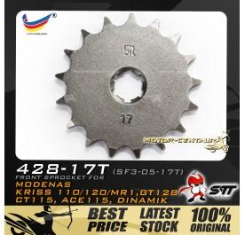 STT FRONT SPROCKET (SF3-05-17T) KRISS-428-17T