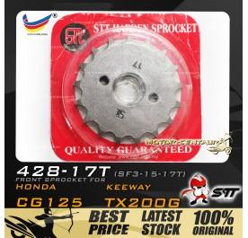 STT FRONT SPROCKET (SF3-15-17T) EVO Z 125-428-17T