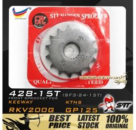 STT FRONT SPROCKET (SF3-24-15T) RKV200G-428-15T