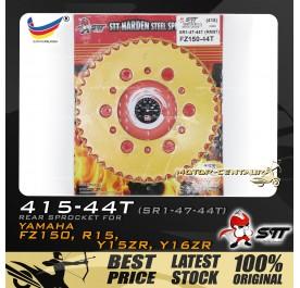 STT REAR SPROCKET (SR1-47-44T) Y15ZR 415-44T GOLD