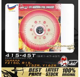 STT REAR SPROCKET (SR1-47-45T) Y15ZR 415-45T GOLD