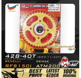 STT REAR SPROCKET (SR3-11-40T) RFS150I 428-40T GOLD
