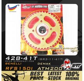 STT REAR SPROCKET (SR3-11-41T) RFS150I 428-41T GOLD