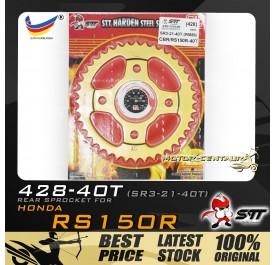 STT REAR SPROCKET (SR3-21-40T) RS150R 428-40T GOLD
