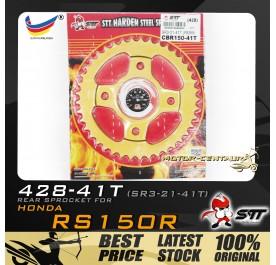 STT REAR SPROCKET (SR3-21-41T) RS150R 428-41T GOLD