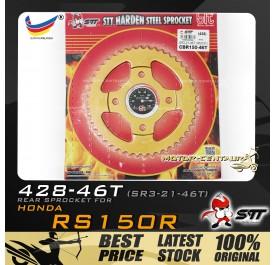 STT REAR SPROCKET (SR3-21-46T) RS150R 428-46T GOLD