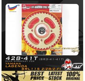 STT REAR SPROCKET (SR3-41-41T) SRL115 428-41T GOLD