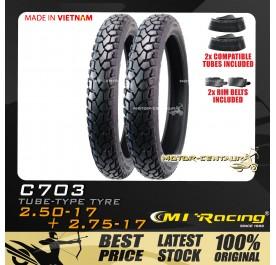 CMI RACING TYRE C703 70/90-17 + 80/90-17 + TUBES