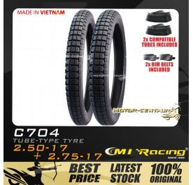 CMI RACING TYRE C704 2.50-17 + 2.75-17 + TUBES
