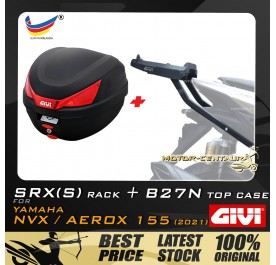 GIVI B27N TOP CASE + GIVI YAMAHA NVX155 2021 SRX(S) EXTREME SPEACIAL RACK
