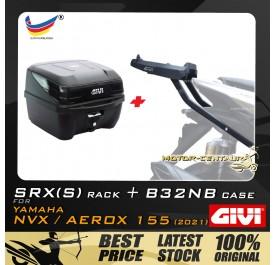 GIVI B32NB TOP CASE + GIVI YAMAHA NVX155 2021 SRX(S) EXTREME SPEACIAL RACK