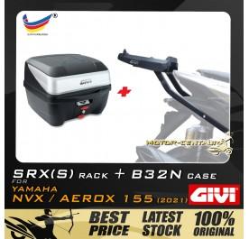 GIVI B32N TOP CASE + GIVI YAMAHA NVX155 2021 SRX(S) EXTREME SPEACIAL RACK