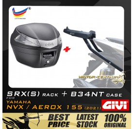 GIVI B34NT TOP CASE + GIVI YAMAHA NVX155 2021 SRX(S) EXTREME SPEACIAL RACK