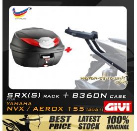 GIVI B360N TOP CASE + GIVI YAMAHA NVX155 2021 SRX(S) EXTREME SPEACIAL RACK
