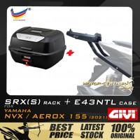 GIVI E43NTL TOP CASE + GIVI YAMAHA NVX155 2021 SRX(S) EXTREME SPEACIAL RACK
