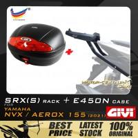 GIVI E450N TOP CASE + GIVI YAMAHA NVX155 2021 SRX(S) EXTREME SPEACIAL RACK