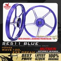 MUTAKIN SPORT RIMS W/BEARINGS SE511 1.40X17 (F) 1.60X17(R) WAVE100 / DREAM BLUE