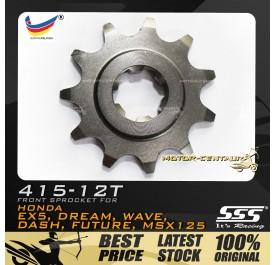 SSS FRONT SPROCKET STEEL EX5 415-12T