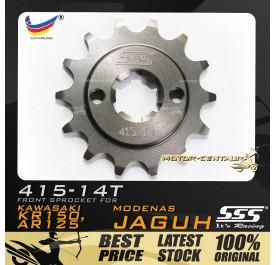 SSS FRONT SPROCKET STEEL KR150 (JAGUH) 415-14T