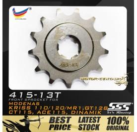 SSS FRONT SPROCKET STEEL KRISS 415-13T