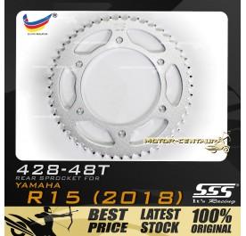 SSS REAR SPROCKET STEEL FZ150(R15) 428-48T SILVER