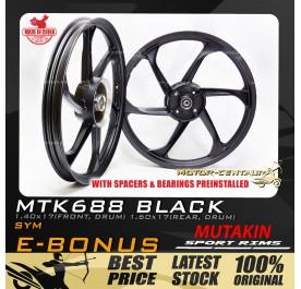 MUTAKIN SPORT RIMS W/BEARINGS MTK688 1.40X17 (F) 1.60X17(R) E-BONUS BLACK