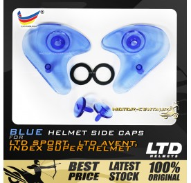 INDEX / LTD SPORT / LTD AVENT HELMET SIDE CAPS SET BLUE