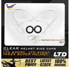 INDEX / LTD SPORT / LTD AVENT HELMET SIDE CAPS SET CLEAR