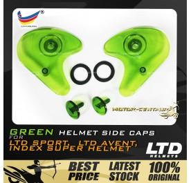 INDEX / LTD SPORT / LTD AVENT HELMET SIDE CAPS SET GREEN