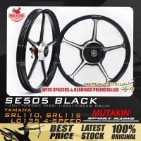 MUTAKIN SPORT RIMS W/BEARINGS SE505 1.40X17 (F) 1.60X17(R) LC135 BLACK