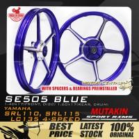 MUTAKIN SPORT RIMS W/BEARINGS SE505 1.40X17 (F) 1.60X17(R) LC135 BLUE