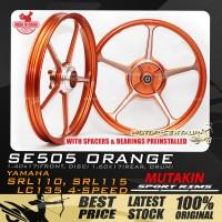 MUTAKIN SPORT RIMS W/BEARINGS SE505 1.40X17 (F) 1.60X17(R) LC135 ORANGE