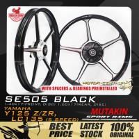 MUTAKIN SPORT RIMS W/BEARINGS SE505 1.40X17 (F) 1.60X17(R) Y125Z BLACK