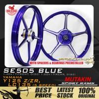MUTAKIN SPORT RIMS W/BEARINGS SE505 1.40X17 (F) 1.60X17(R) Y125Z BLUE