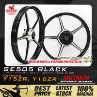 MUTAKIN SPORT RIMS W/BEARINGS SE505 1.40X17 (F) 1.60X17(R) Y15ZR BLACK