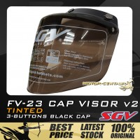 SGV CAP VISOR 2 FV-23 TINTED WITH BLACK CAP FOR MS88, MHR, SGV
