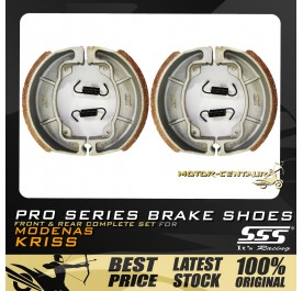 SSS FRONT + REAR PRO SERIES DRUM BRAKES SHOES FOR MODENAS KRISS 110