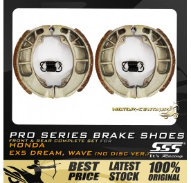 SSS FRONT + REAR PRO SERIES DRUM BRAKES SHOES FOR HONDA EX5 DREAM (NON-FI)