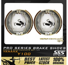 SSS FRONT + REAR PRO SERIES DRUM BRAKES SHOES FOR YAMAHA Y100