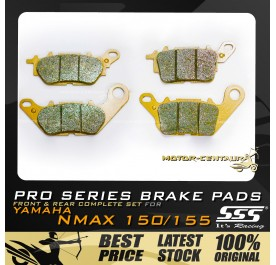 SSS FRONT + REAR PRO SERIES DISC BRAKE PADS FOR YAMAHA NMAX