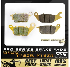 SSS FRONT + REAR PRO SERIES DISC BRAKE PADS FOR YAMAHA Y15ZR