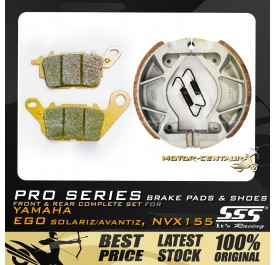 SSS PRO SERIES FRONT DISC BRAKE PADS + REAR BRAKE SHOES FOR FOR YAMAHA NVX155