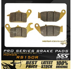 SSS FRONT + REAR PRO SERIES DISC BRAKE PADS FOR HONDA RS150, RS150R