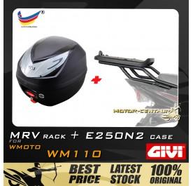 GIVI E250N2 TOP CASE + GIVI WMOTO WM110 MRV MONORACK
